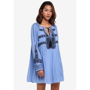 [Free People] Wind willow embroidered mini dress